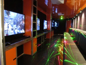 Video game interior - game truck in Los Angeles