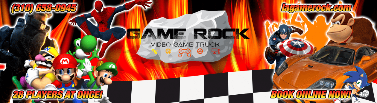 Game Rock – Los Angeles California Video Game Truck Birthday Parties & More!
